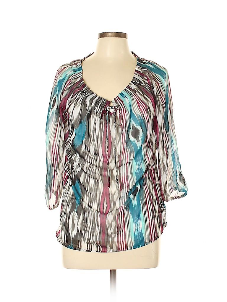 I.N. Studio Women 3/4 Sleeve Blouse Size M