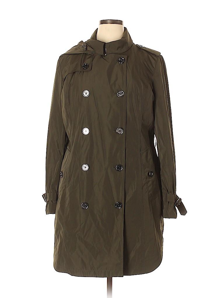 MICHAEL Michael Kors Women Trenchcoat Size XL