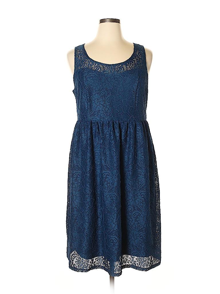 Lane Bryant Women Casual Dress Size 14 (Plus)
