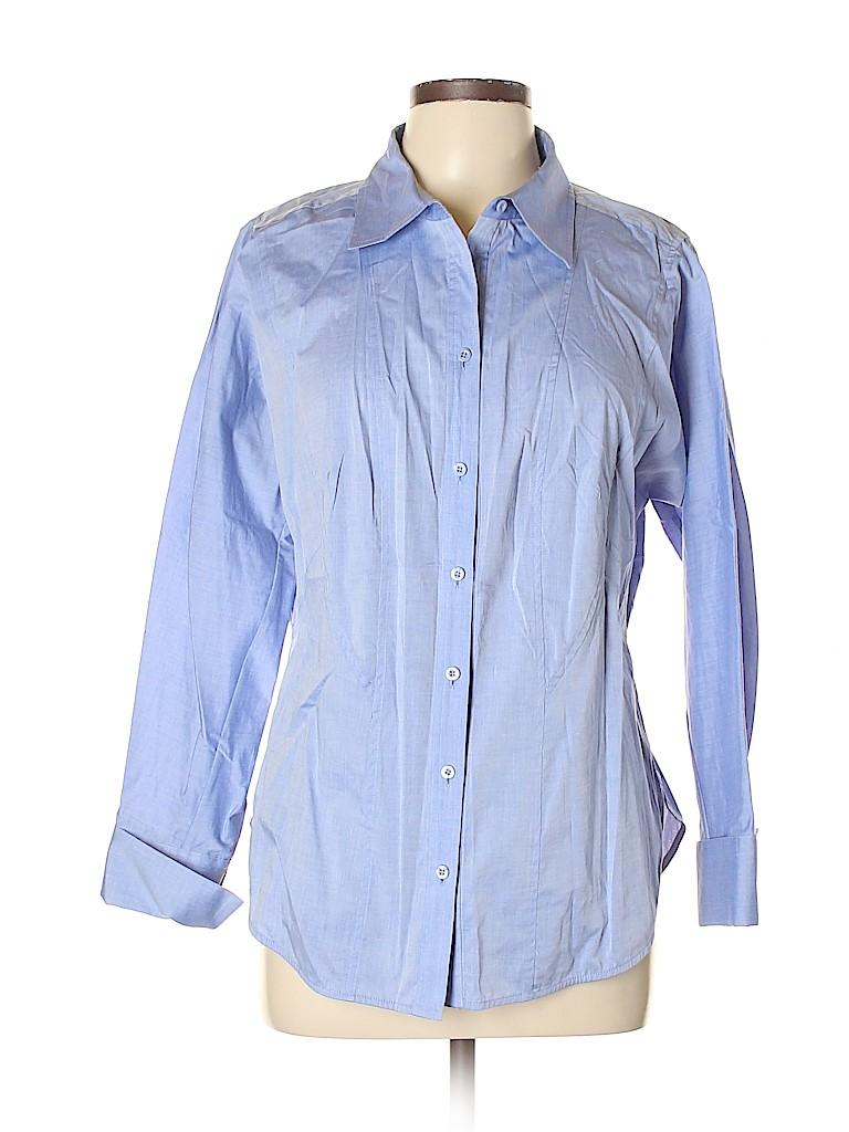 Etcetera Women Long Sleeve Button-Down Shirt Size 12