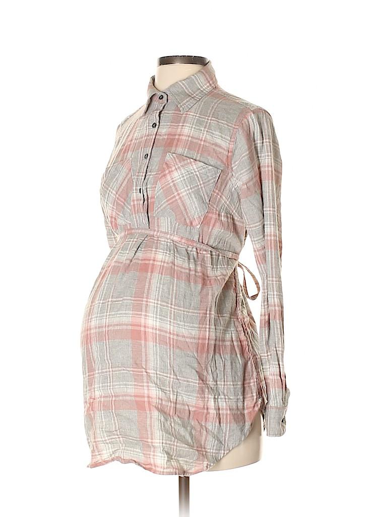 Liz Lange Maternity for Target Women Long Sleeve Button-Down Shirt Size S (Maternity)