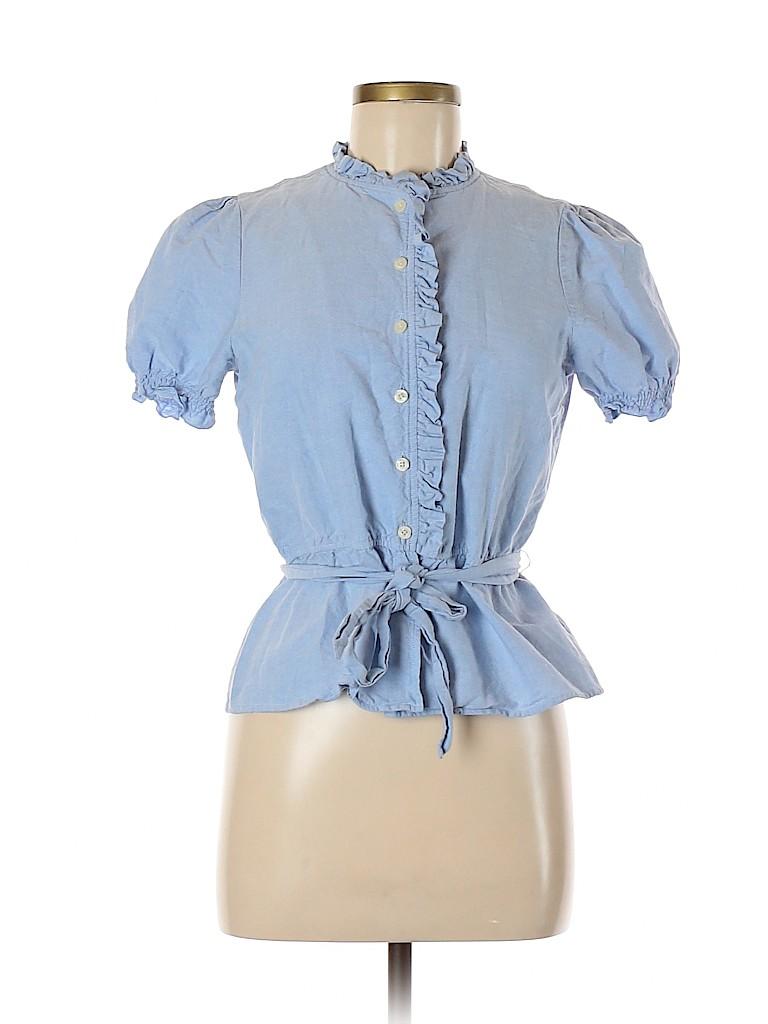 Kimchi Blue Women Short Sleeve Button-Down Shirt Size M