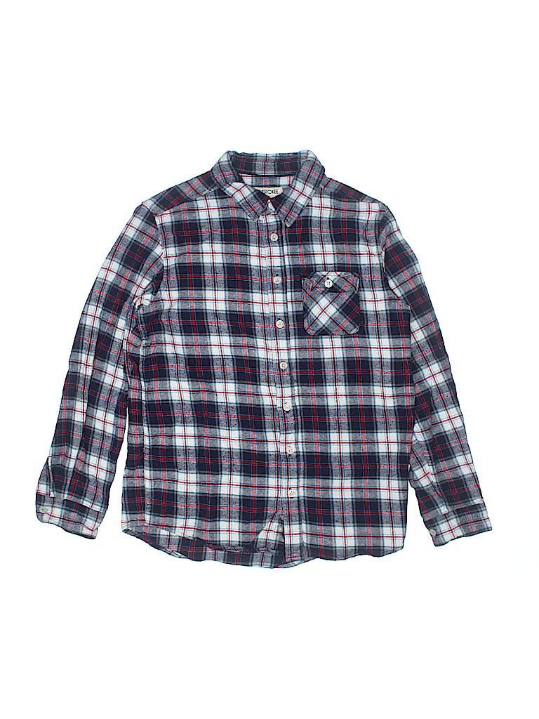 Cherokee Boys Long Sleeve Button-Down Shirt Size L (Kids)