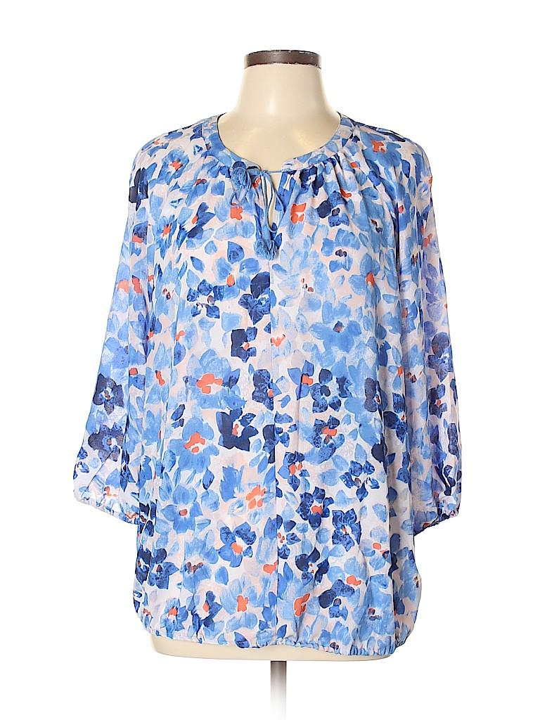 Liz Claiborne Women 3/4 Sleeve Blouse Size XL