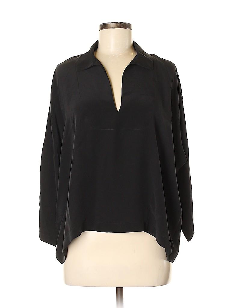 MNG Women 3/4 Sleeve Silk Top Size 6