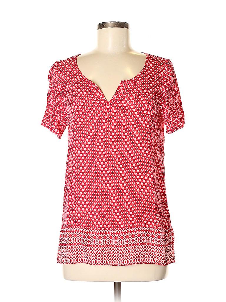 J.jill Women Short Sleeve Blouse Size M