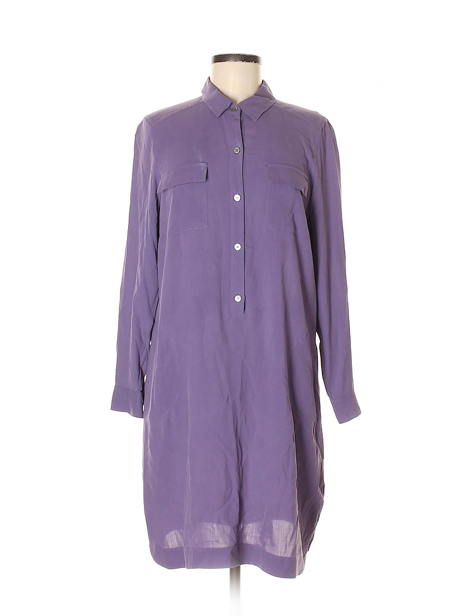 9574a2483a6cd Details about J.Jill Women Purple Casual Dress Med Petite