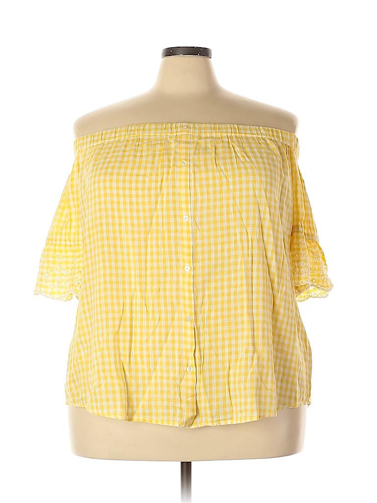 Old Navy Women Short Sleeve Blouse Size XXL