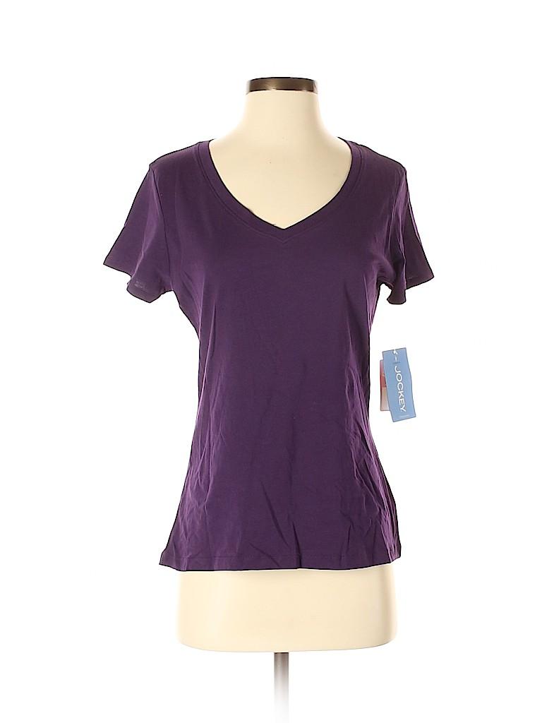Jockey Women Short Sleeve T-Shirt Size S