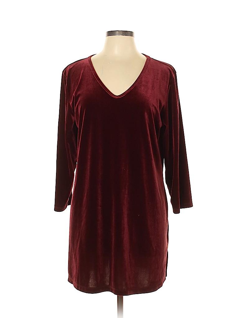 Susan Graver Women Casual Dress Size L
