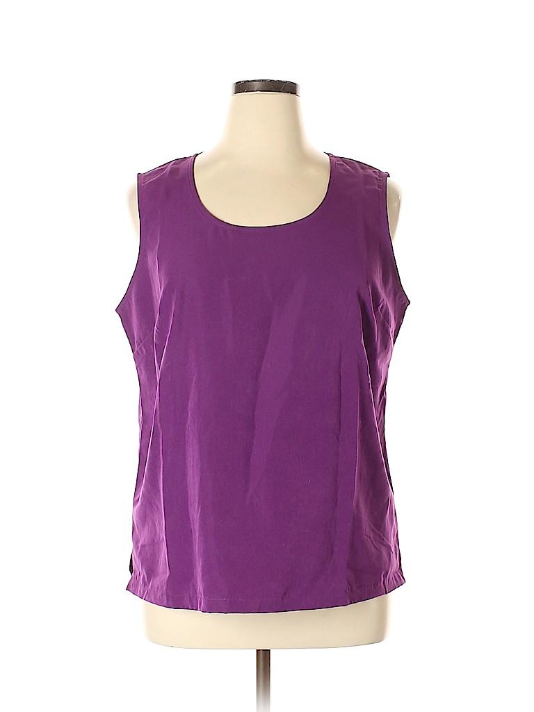 Travelsmith Women Sleeveless Blouse Size XL