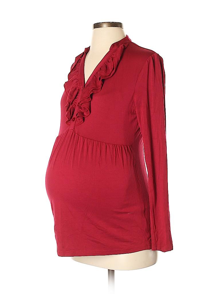 Ripe maternity Women Long Sleeve Top Size M (Maternity)
