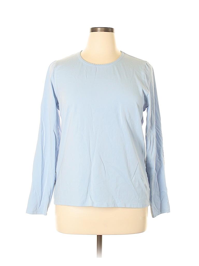 Lands' End Women Long Sleeve T-Shirt Size XL