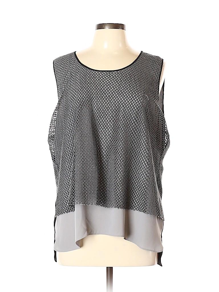 T Tahari Women Sleeveless Blouse Size XL
