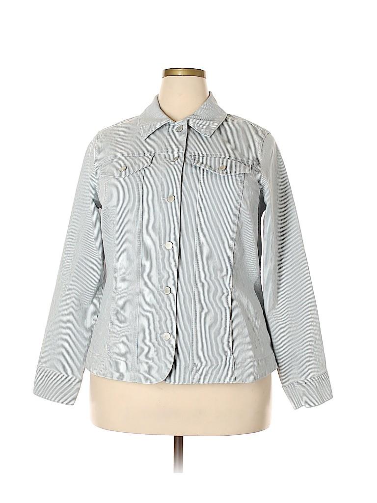 Charter Club Women Denim Jacket Size 1X (Plus)