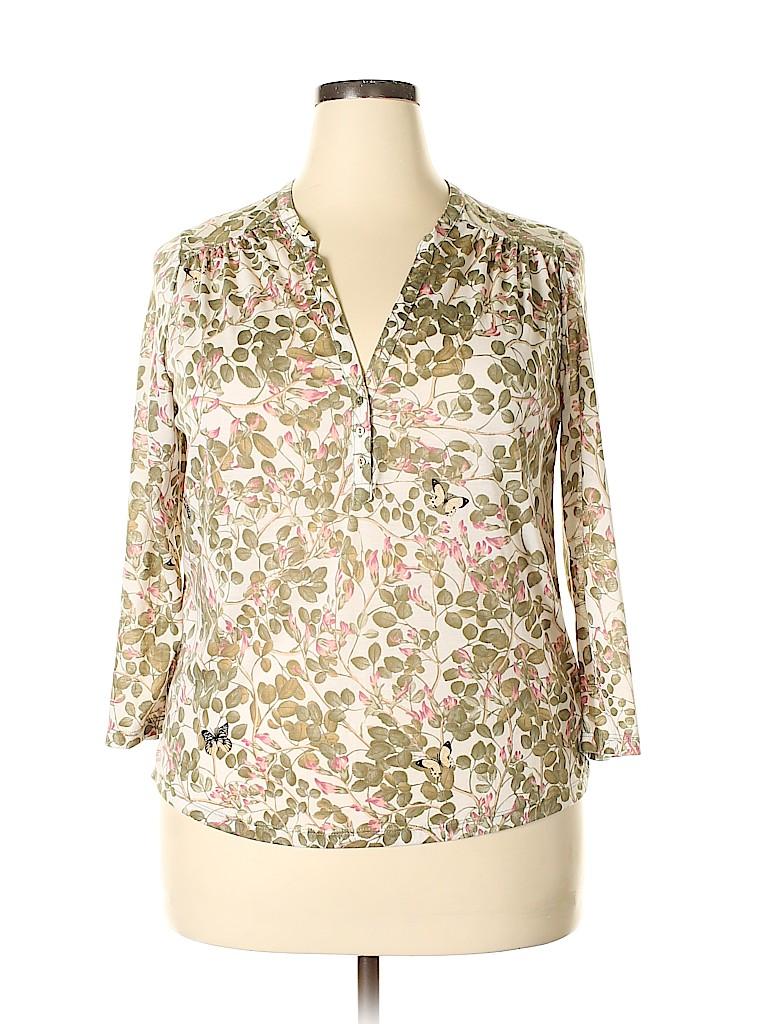 H&M Women Long Sleeve Henley Size L