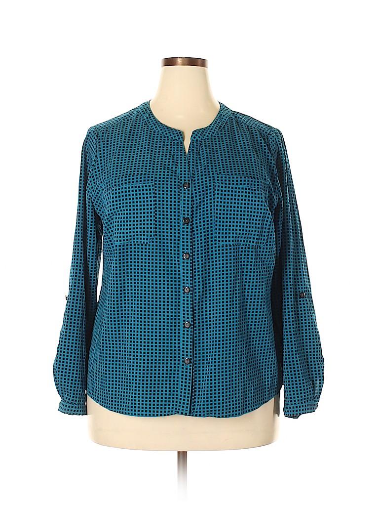Kim Rogers Women Long Sleeve Blouse Size 2X (Plus)