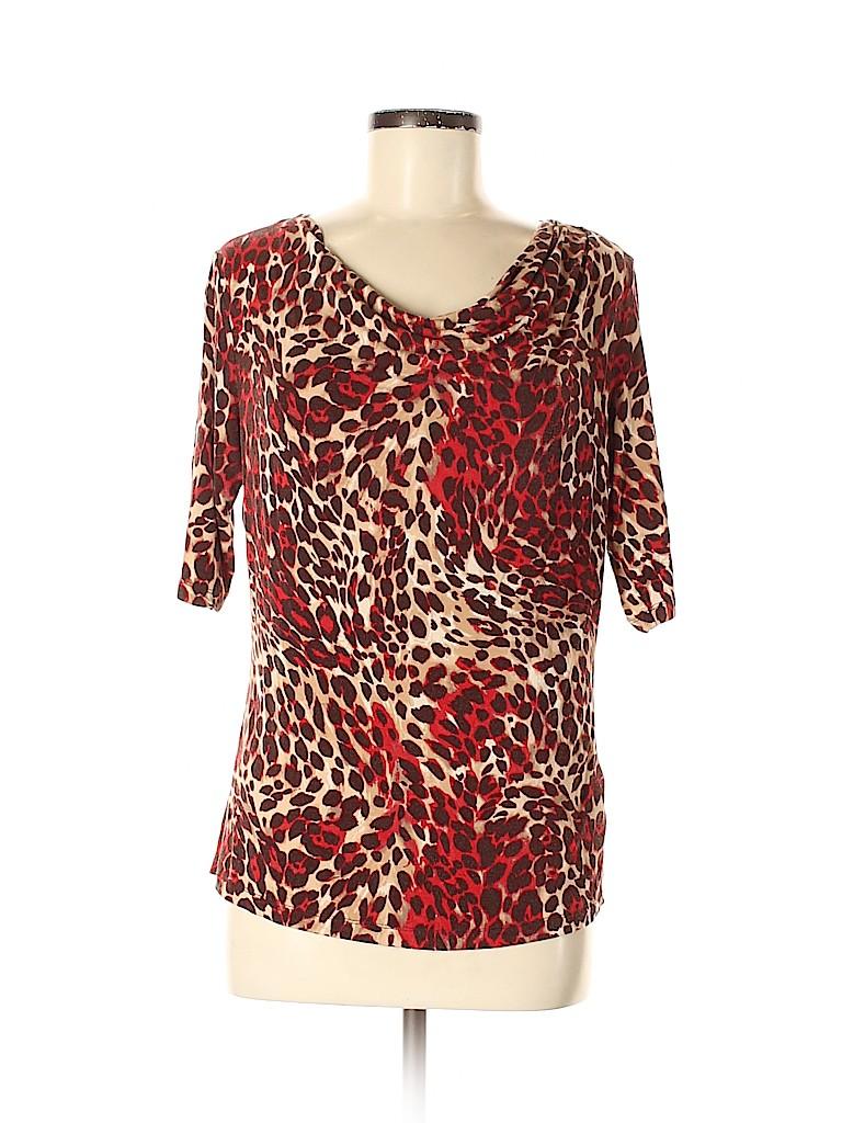 Jones New York Collection Women Short Sleeve Top Size M