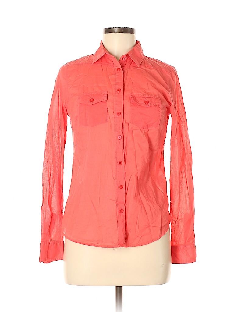 Aeropostale Women Long Sleeve Button-Down Shirt Size M