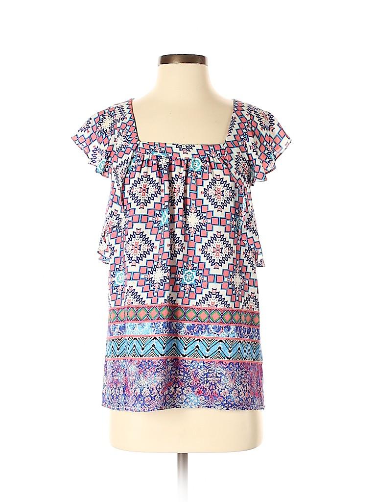 Meadow Rue Women Short Sleeve Blouse Size 2