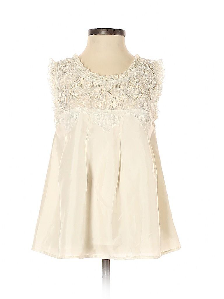 Arden B. Women Sleeveless Silk Top Size XS