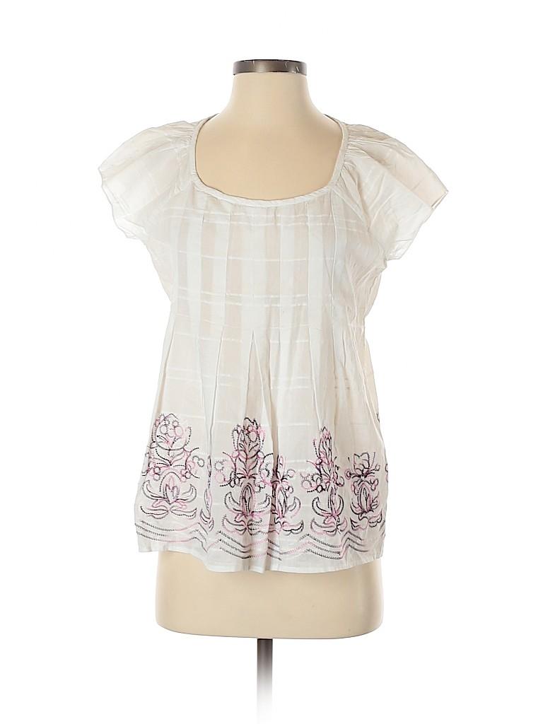 CALVIN KLEIN JEANS Women Short Sleeve Blouse Size S
