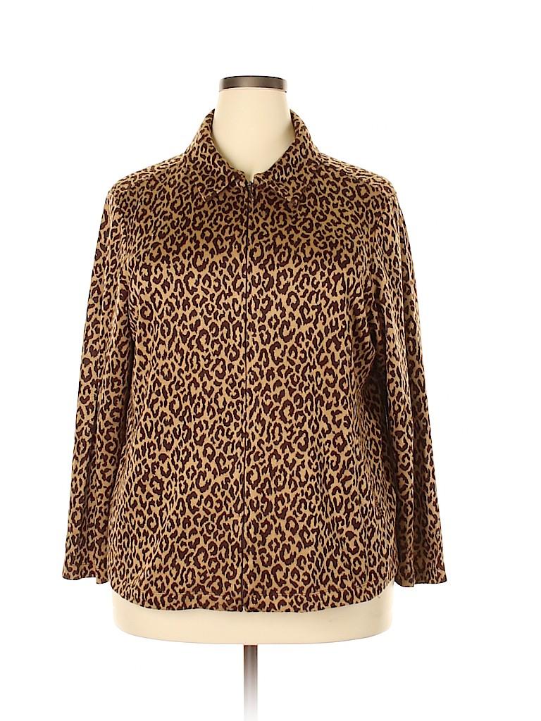 Susan Graver Women Pullover Sweater Size 1X (Plus)