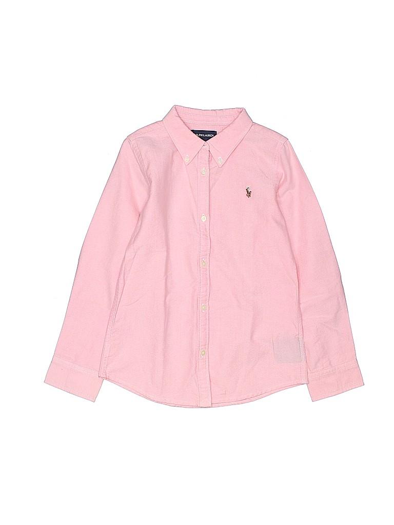 Ralph Lauren Girls Long Sleeve Button-Down Shirt Size 6X