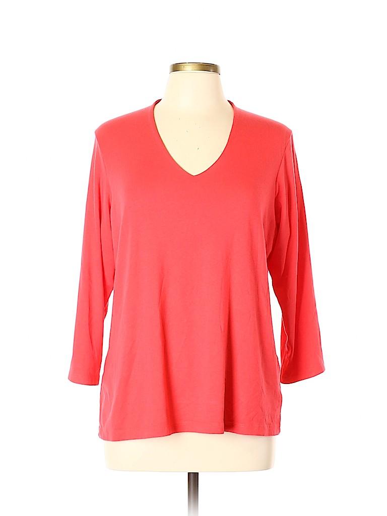 Orvis Women Long Sleeve Top Size XL