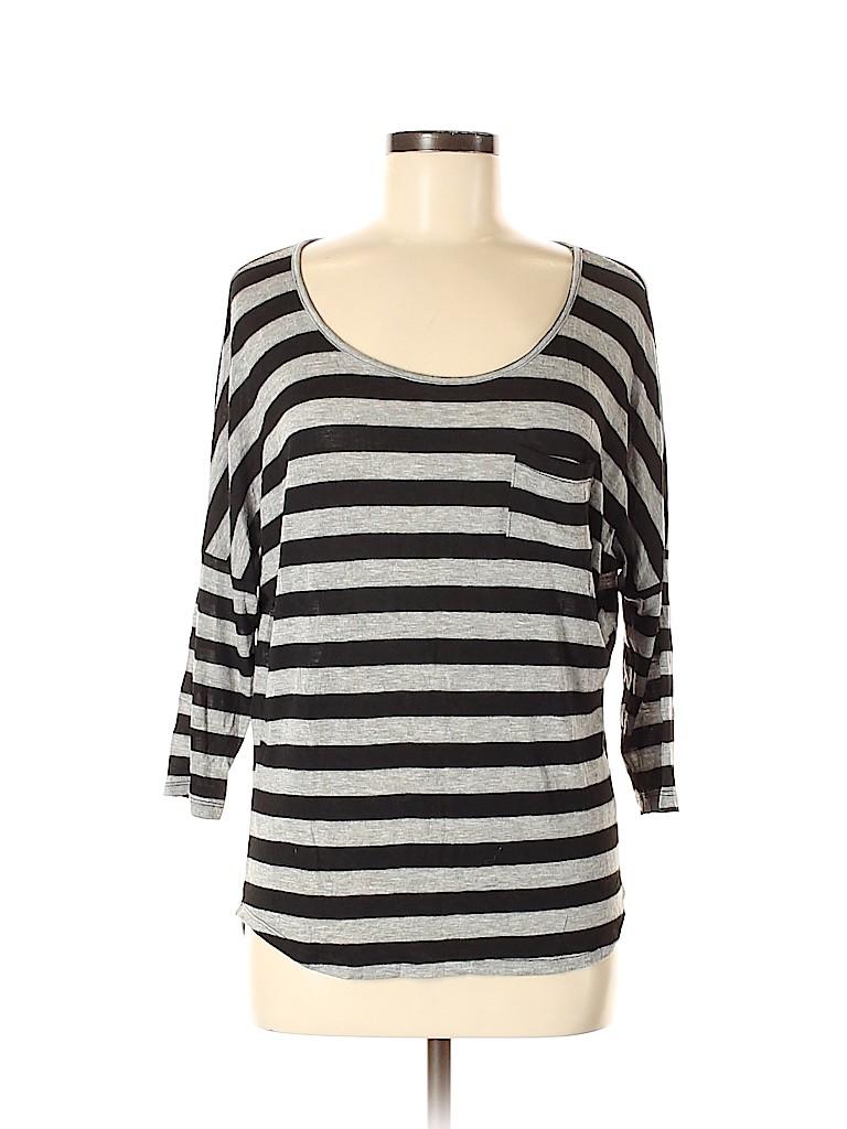 Charlotte Russe Women 3/4 Sleeve T-Shirt Size M