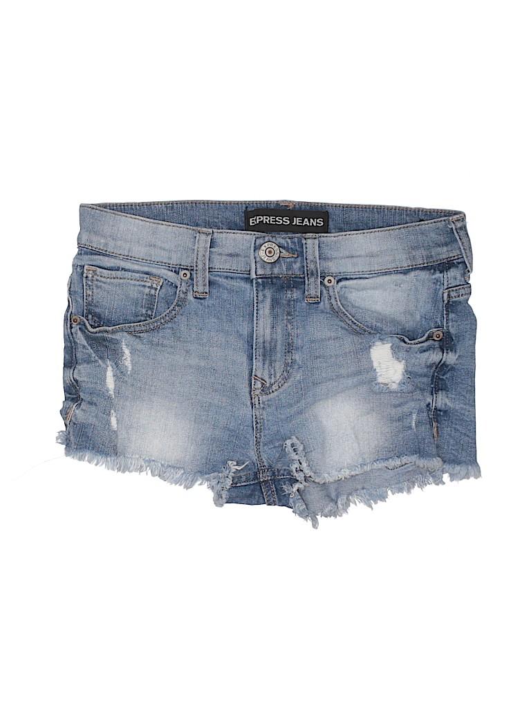 Express Jeans Women Denim Shorts Size 0