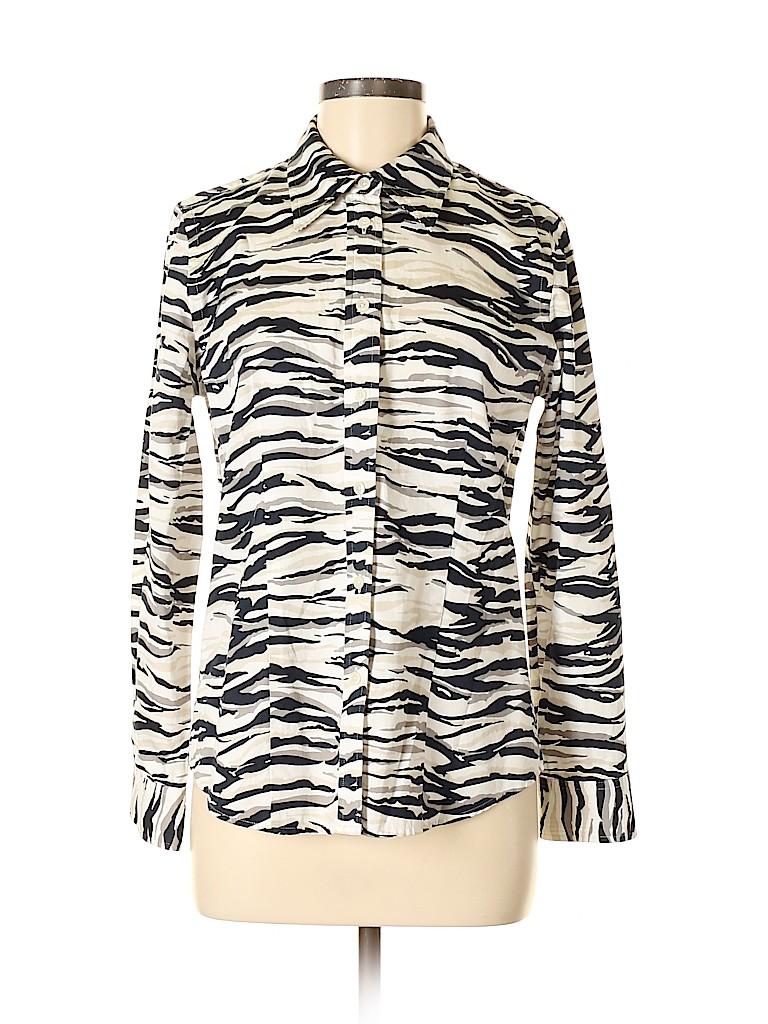 Jones New York Signature Women 3/4 Sleeve Button-Down Shirt Size M