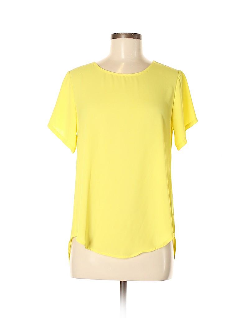 Akira Chicago Black Label Women Short Sleeve Button-Down Shirt Size M