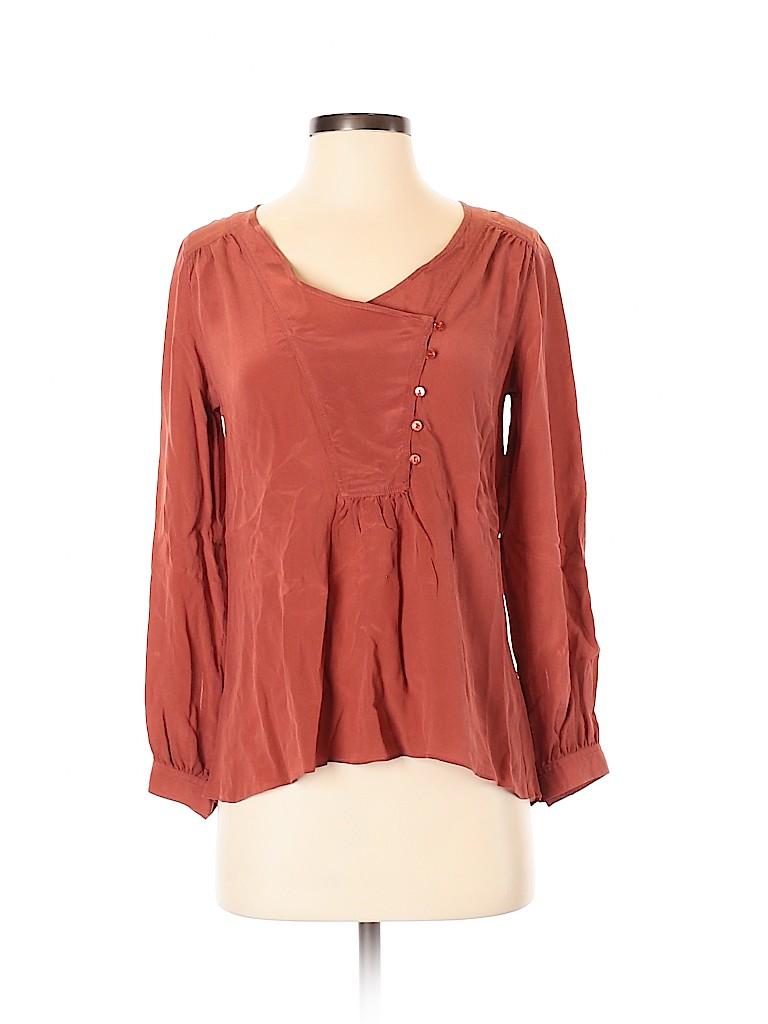 Lil Women Long Sleeve Silk Top Size 4