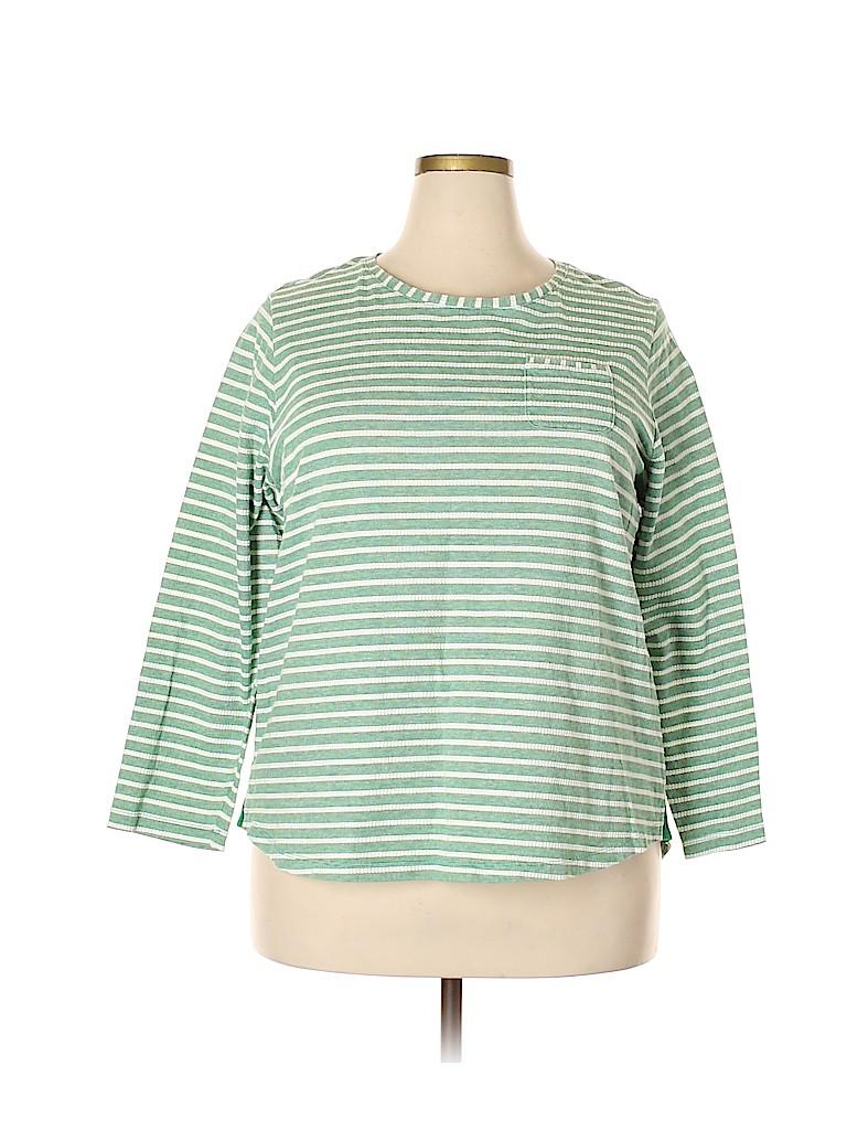 Lands' End Women Long Sleeve T-Shirt Size 1X (Plus)