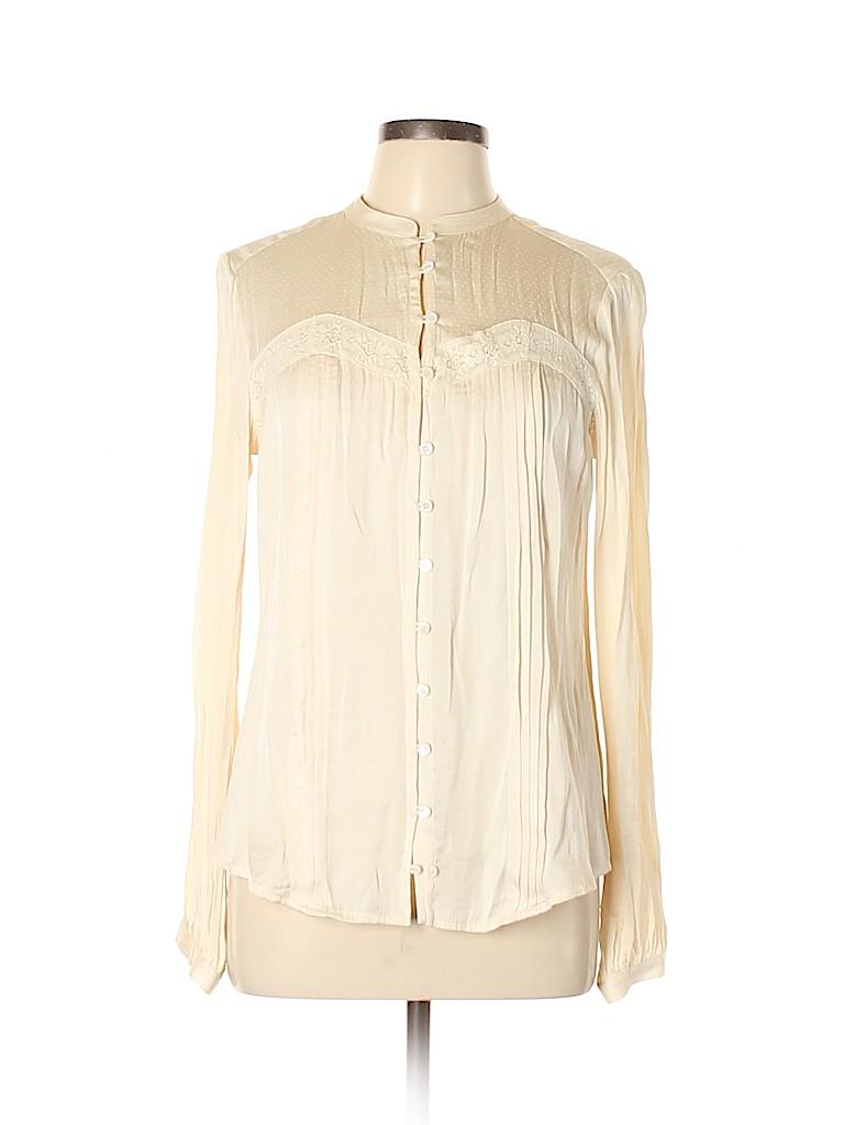 MNG Women Long Sleeve Blouse Size L