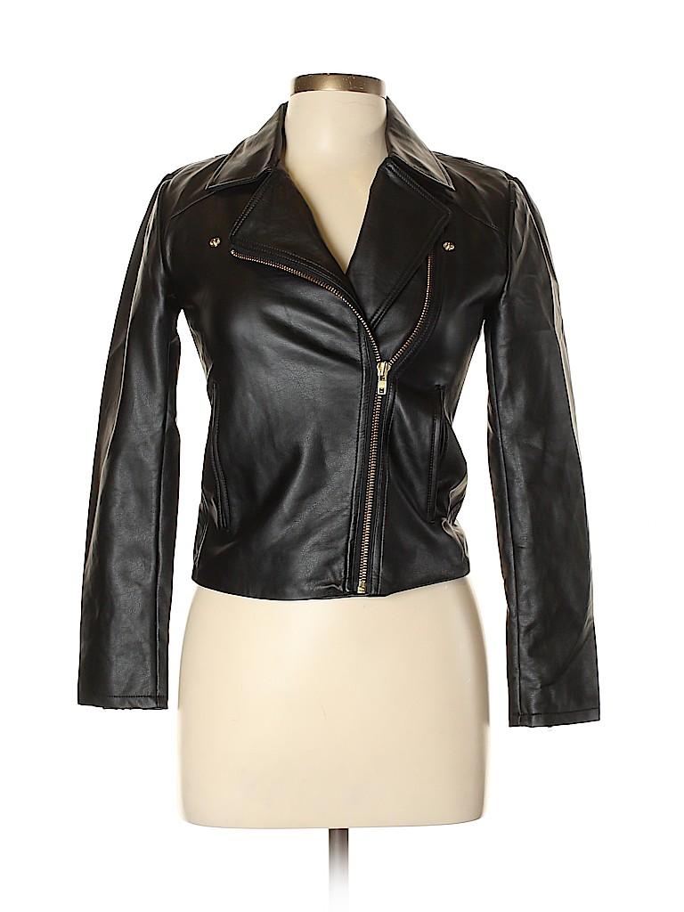 J. Crew Women Faux Leather Jacket Size XXS
