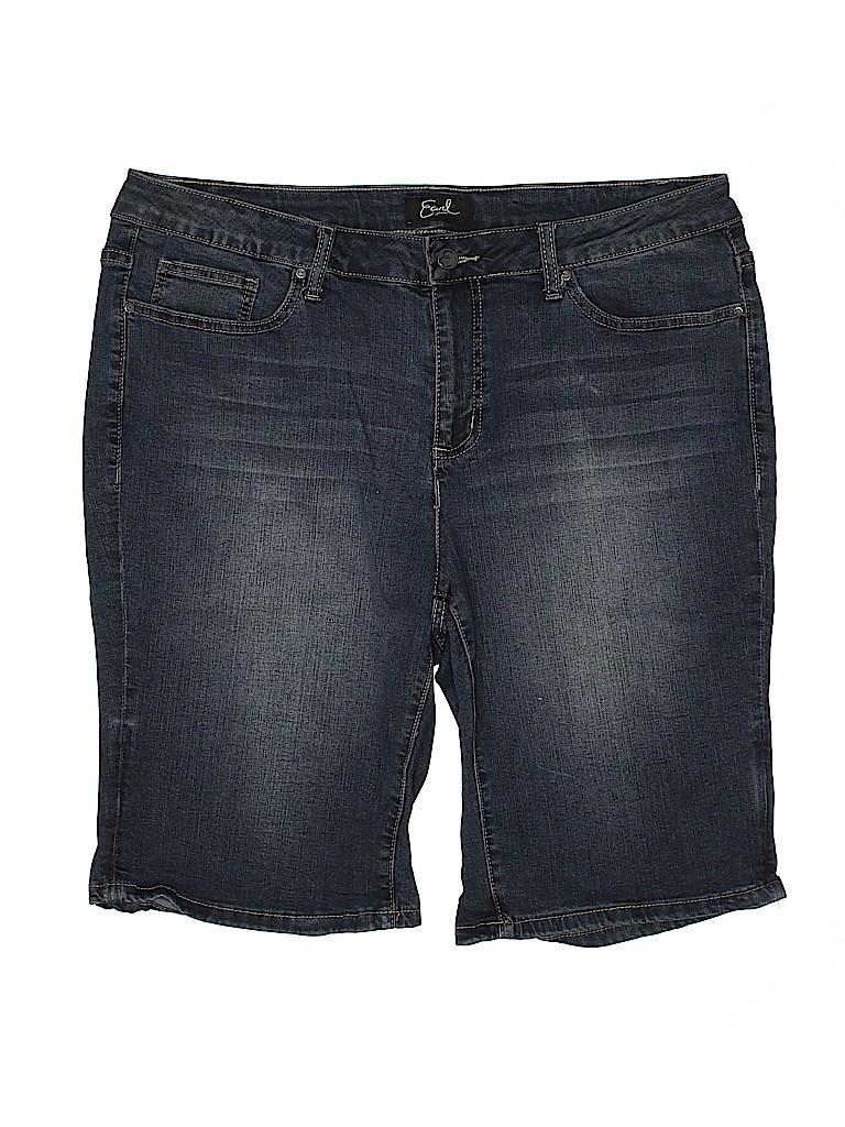 Earl Jean Women Denim Shorts Size 18 (Plus)