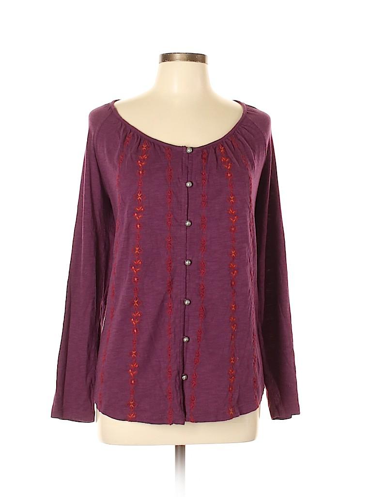 J.jill Women Long Sleeve Top Size L