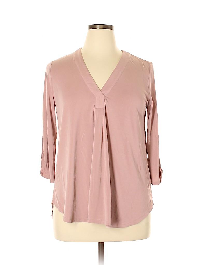 Lush Women 3/4 Sleeve Top Size L
