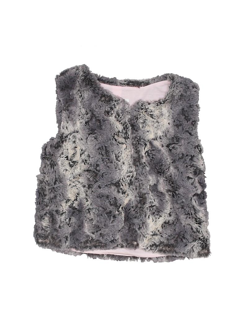 Cat & Jack Girls Faux Fur Vest Size 7 - 8