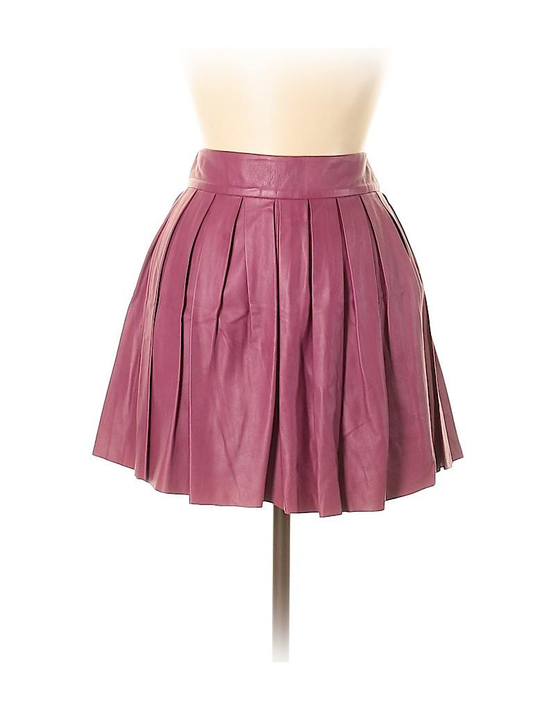 Alice + olivia Women Leather Skirt Size 4
