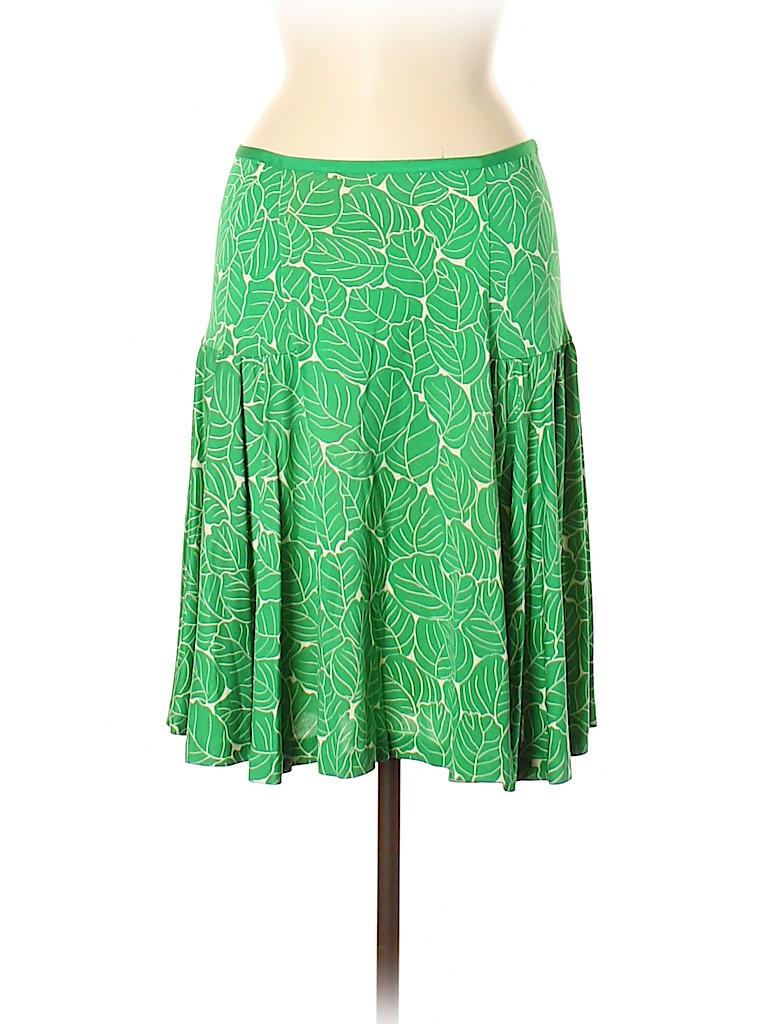 Diane von Furstenberg Women Silk Skirt Size 6
