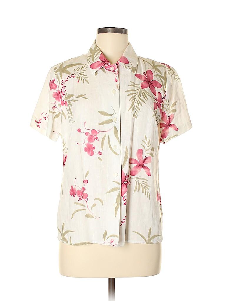 Style&Co Women Short Sleeve Button-Down Shirt Size 8