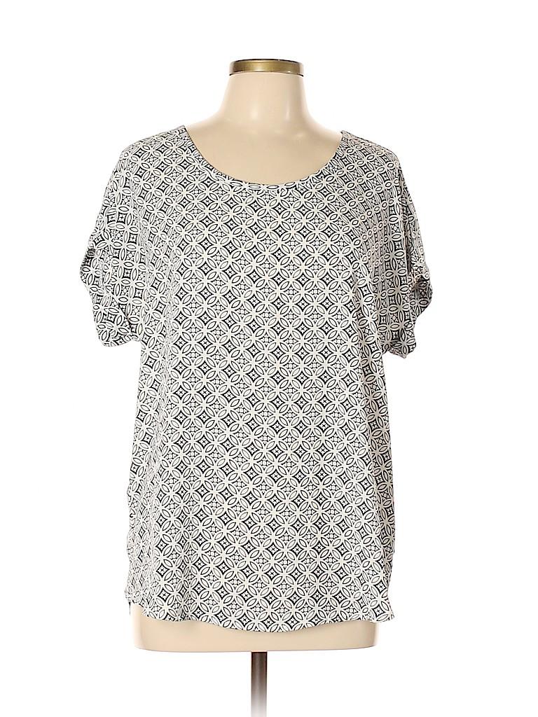 Pleione Women Short Sleeve Blouse Size L