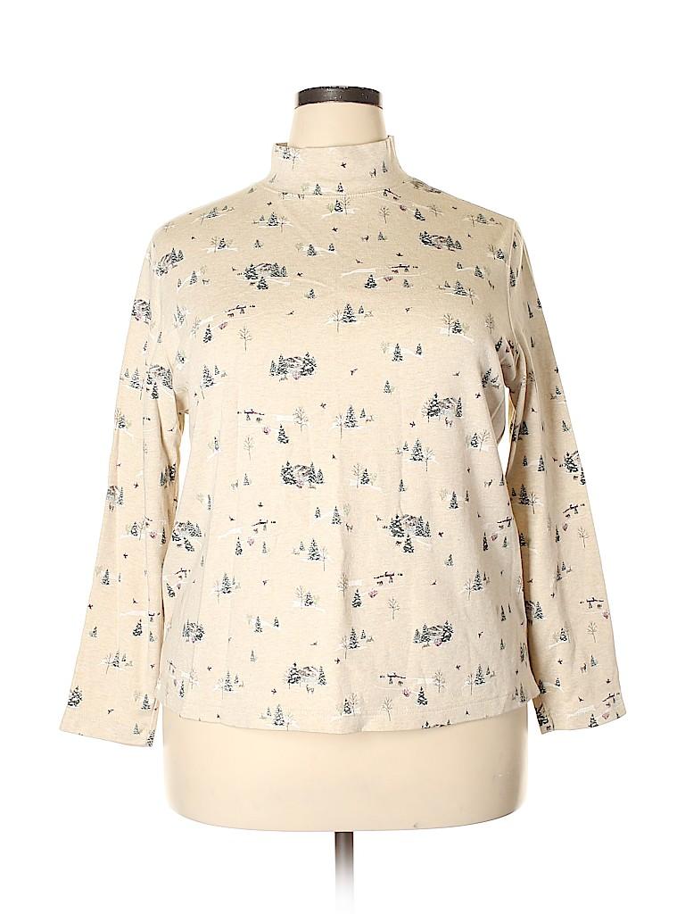 Croft & Barrow Women Long Sleeve T-Shirt Size 2X (Plus)