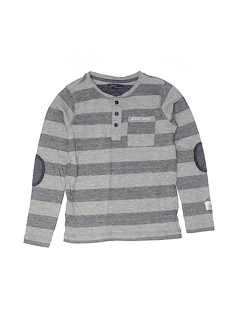Silver Jeans Co. Boys Long Sleeve Henley Size 6