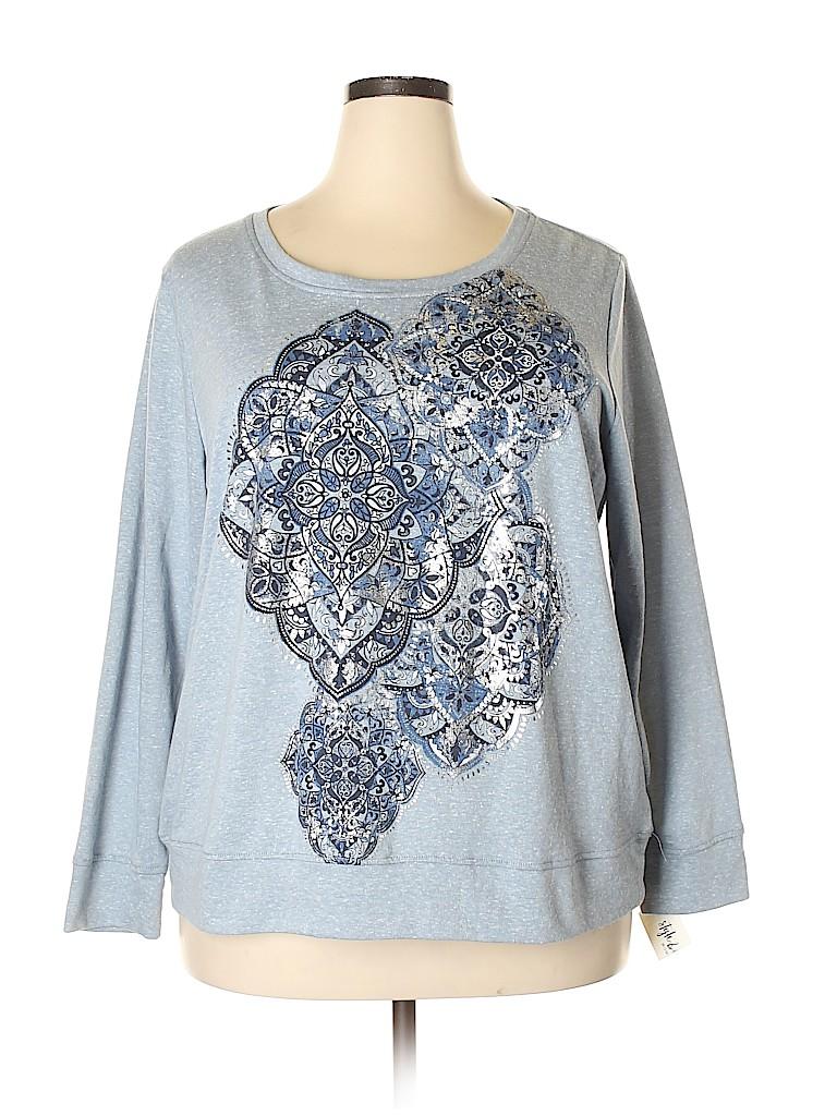 Style&Co Women Sweatshirt Size 1X (Plus)
