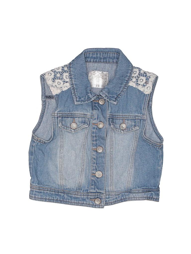 Justice Girls Denim Vest Size 8 - 10