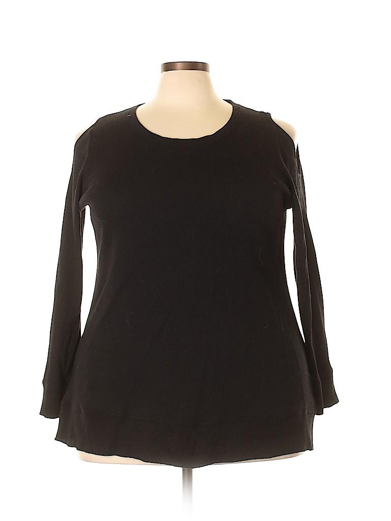 Style&Co Women Long Sleeve Top Size 3X (Plus)